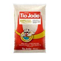 Arroz Tio João Branco 1kg | Fardo com 10 Pacotes - Cod. 7893500020110C10