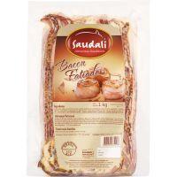 Bacon Fatiado Saudali 1kg | Caixa com 5un - Cod. 7898229384093C5