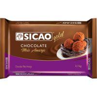 Chocolate Sicao Amargo 2,1kg | Caixa com 5 unidades - Cod. 20842033776