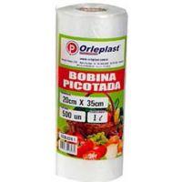 Bobina Plástica Picotada Orleplast 1L 500un - Cod. 7897257113590