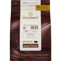 Chocolate Amargo em Gotas 50,7% Callebaut 2,5kg - Cod. 5410522513035