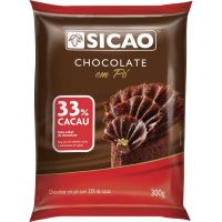 Chocolate Pó Sicao 33% 300g | Caixa com 20 unidades - Cod. 208420624862