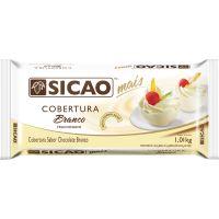 Cobertura de Chocolate em Barra Sicao Mais Branco 1,01Kg - Cod. 20842060215