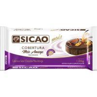 Cobertura de Chocolate em Barra Sicao Mais Meio Amargo 1,01Kg - Cod. 20842060147