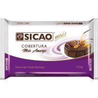 Cobertura de Chocolate em Barra Sicao Mais Meio Amargo 2,1Kg - Cod. 20842060420