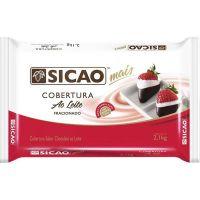 Cobertura de Chocolate em Barra Sicao Mais ao Leite 2,1Kg - Cod. 20842060413