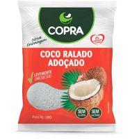 Coco Ralado Fino Úmido e Adoçado Copra 100g  com 24 Unidades - Cod. 17898905356298