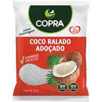 Coco Ralado Úmido e Adoçado Copra 50g  com 48 Unidades - Cod. 17898905356861