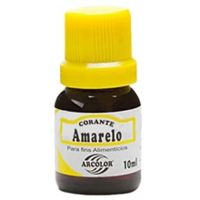 Corante Líquido Amarelo Arcolor 10ml   Caixa com 12 Unidades - Cod. 7896226300016C12