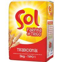Farinha de Trigo Sol | Fardo com 5 Unidades - Cod. 7891080000157C5