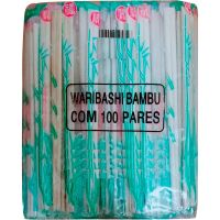 Hashi Bambu Plástico Fukumatsu com 100 Pares - Cod. 5914533104316