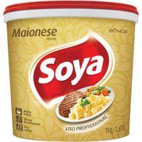 Maionese Soya Balde 3kg - Cod. 7891080404979
