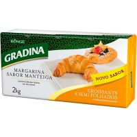 Margarina Especial Croissant Sabor Manteiga Gradina 2kg - Cod. 7891080109362