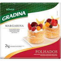 Margarina Folhada Placa Gradina 2kg - Cod. 7891080152306