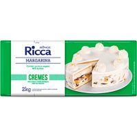 Margarina para Cremes Ricca 2kg - Cod. 7891080500046C12