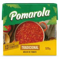 Molho de Tomate Pomarola Tradicional 520g - Cod. 7896036095102