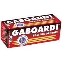 Palito Dental Gaboardi 100un   Caixa com 25 Unidades - Cod. 7896384518254C25