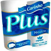 Papel Higiênico Carinho Plus 30m 4 rolos - Cod. 7896339810334C16