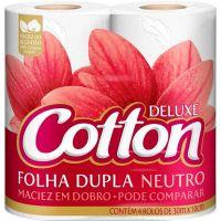 Papel Higiênico Folha Dupla Cotton 4 rolos - Cod. 7896914001652C16