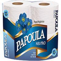 Papel Higiênico Folha Simples Neutro Papoula 30m 4 Rolos - Cod. 7898937601086C16