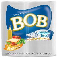 Papel Toalha Folha Dupla 60F Bob - Cod. 7896089402025