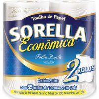 Papel Toalha Sorella 2 Rolos | Caixa com 12 Unidades - Cod. 7896053460044C12