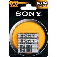 Pilha Zinco Carbono Ultra Heavy Duty Palito AAA Sony 4 Unidades - Cod. 1000856200990C6