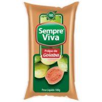 Polpa de Fruta Goiaba Sempre Viva 100g | Caixa com 12 Unidades - Cod. 7897032401546C12