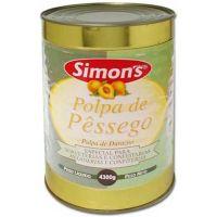 Polpa de Pêssego Simons 4,3Kg - Cod. 7896305800352