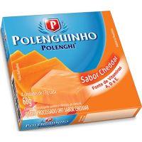 Queijo Cheddar Cremoso Polenguinho 17g | Caixa com 4 Unidades - Cod. 7891143017696C12