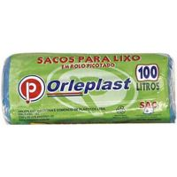 Saco para Lixo Rolo Econômico Orleplast 75X105 100L   Pacote com 25 Unidades - Cod. 7897257101375