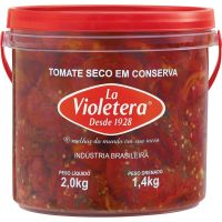 Tomate Seco La Violetera Balde 2kg - Cod. 7891089047290