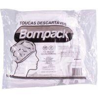 Touca Descartável Branca Bompack 100un    Caixa com 100un - Cod. 7898921461085C100