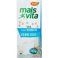 Bebida de Soja Zero Açúcar sabor Baunilha Mais Vita 1L - Cod. 7891095010769C12