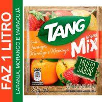 Bebida em Pó Tang MIX Laranja, Morango e Maracujá 25g   Caixa com 15 unidades - Cod. 7622210655639C15