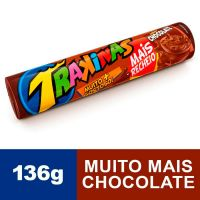 Biscoito Trakinas Mais Chocolate 136g - Cod. 7622300741136C54