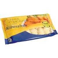 Bolinho de Bacalhau Congelado Riberalves 360g | Com 12 Unidades - Cod. 5601809007655C12