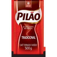 Café Pilão Torrado e Moído Tradicional Vácuo 500g - Cod. 7896089011357