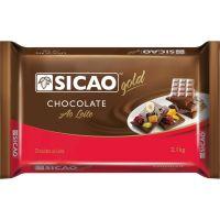 Chocolate em Barra para Cobertura ao leite Gold Sicao 2,1kg | Caixa com 5 Unidades - Cod. 208420337694C5