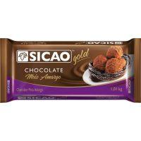 Chocolate em Barra para Cobertura Meio Amargo Gold Sicao 1,01kg | Caixa com 10 Unidades - Cod. 208420601238C10