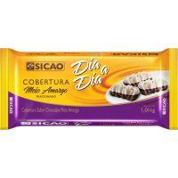 Chocolate para Cobertura Meio Amargo Dia a Dia Sicão 1,01kg - Cod. 20842060789C10