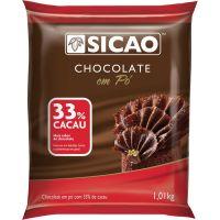 Chocolate Pó Sicao 33% 1,01kg Chd-11S108-A99 | Caixa com 10 unidades - Cod. 2084206247948