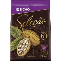 Chocolate Sicao Selecão Amargo 63%Cacau 2,05kg Chips Ch | Caixa com 5 unidades - Cod. 20842060826