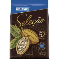 Chocolate Sicao Seleção Amargo 52%Cacau 2,05kg Chips Ch | Caixa com 5 unidades - Cod. 20842060833