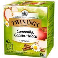 Chá de Camomila, Canela e Maça Twinings 15g | Caixa com 12 Unidades - Cod. 701771696576C12