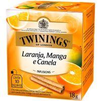 Chá de laranja, Manga e Canela Twinings 18g | Caixa com 12 Unidades - Cod. 701771696194C12