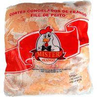 Frango Corte Congelado Filé de Peito sem Sassami Mister Frango Pacote kg| Caixa com 18 Unidades - Cod. 7897200602218C18
