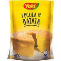 Fécula de Batata Yoki 200g | Caixa com 12 Unidades - Cod. 7891095830671C12