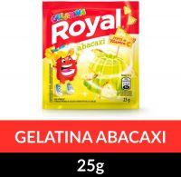 Gelatina em pó Royal Abacaxi 25g | Caixa com 15 unidades - Cod. 7622300860066C15