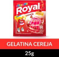 Gelatina em pó Royal Cereja 25g | Caixa com 15 unidades - Cod. 7622300859985C15